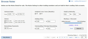 Lending Club Updates - Foliofn Additional Filters