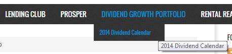 2014 Dividend Calendar - Find my 2014 Dividend Calendar